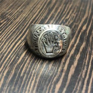 オーバル シルバー925  6号 ユニセックス 重い 印台 銀 指輪 ギフト(リング(指輪))