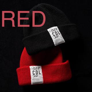 サンダイメジェイソウルブラザーズ(三代目 J Soul Brothers)のCLAIR DE LUNE Knit Cap Red 登坂 広臣 着用モデル(ニット帽/ビーニー)