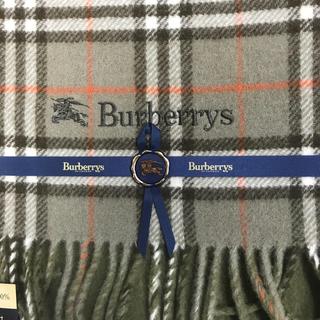 BURBERRY - 未使用 バーバリー ラムウール100% ひざ掛け