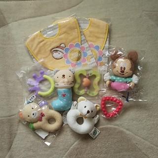 ミキハウス(mikihouse)の【新品】赤ちゃん用おもちゃ他9点セット(がらがら/ラトル)
