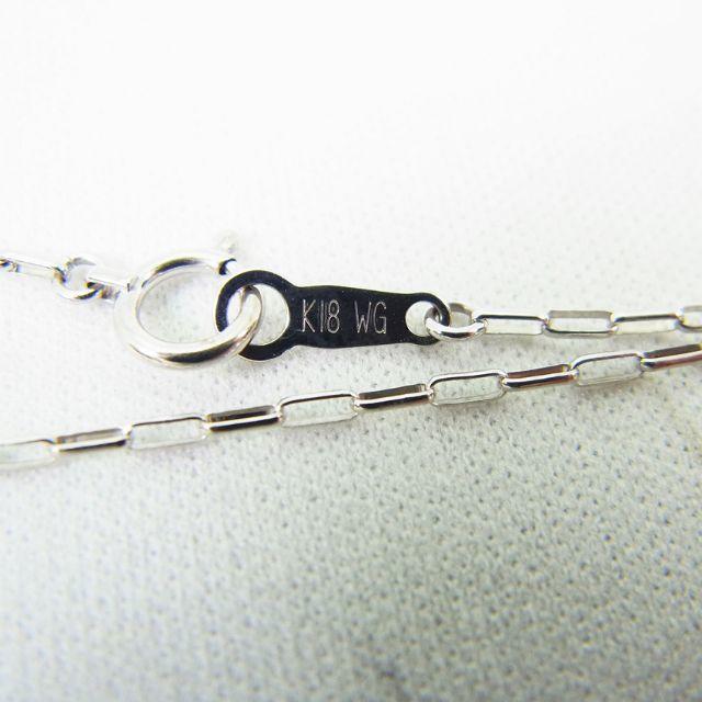 K18ホワイトゴールド デザインチェーン 45cm [g134-1] レディースのアクセサリー(ネックレス)の商品写真
