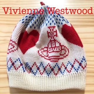 Vivienne Westwood - 値下げ【未使用品】ヴィヴィアンウエストウッド ニット帽 ニットキャップ ホワイト