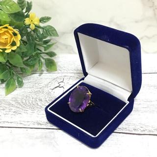 K18 紫石 イエローゴールド リング(リング(指輪))