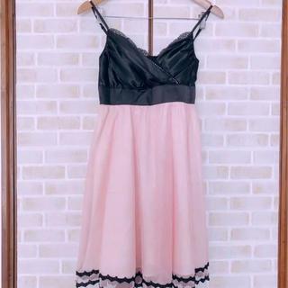 セシルマクビー(CECIL McBEE)の新品 結婚式 お呼ばれ ドレス パーティードレス ピンク(ミディアムドレス)
