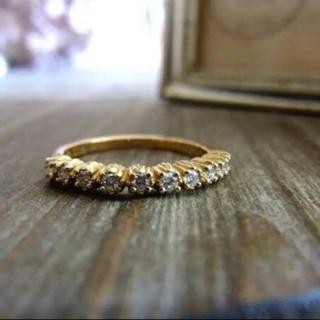 アーカー(AHKAH)のAHKAH K18ダイヤハーフエタニティリング(リング(指輪))