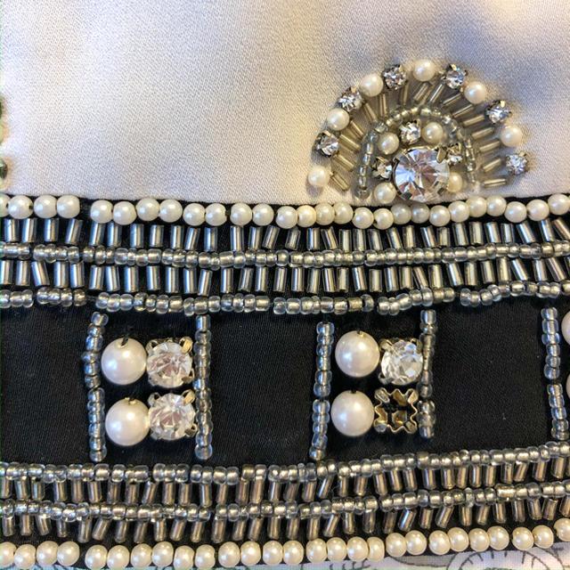 GRACE CONTINENTAL(グレースコンチネンタル)のグレースコンチネンタル ビジュー  レース ドレス ワンピース レディースのフォーマル/ドレス(ミディアムドレス)の商品写真