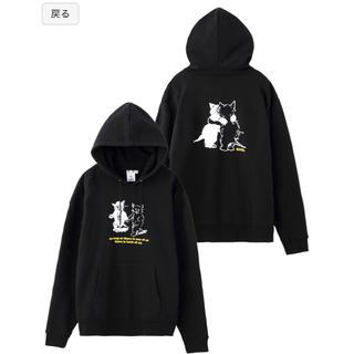 エックスガール(X-girl)のエックスガール CATS SWEAT HOODIE サイズ2(パーカー)