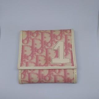 クリスチャンディオール(Christian Dior)のディオール トロッター 折財布 ピンク系(財布)