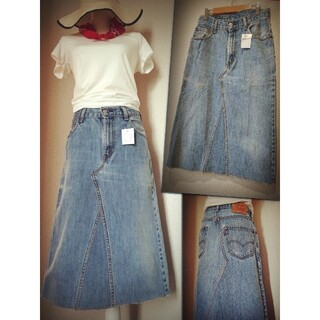 リーバイス(Levi's)の新品タグLEVI'S古着リメイクロングスカート大きいサイズ(ロングスカート)