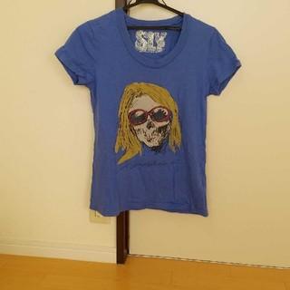 SLY - スライ UネックTシャツ 青