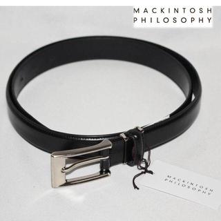 MACKINTOSH PHILOSOPHY - 《マッキントッシュ》新品 本革 レザーベルト イタリア製素材使用 黒 長さ調整可