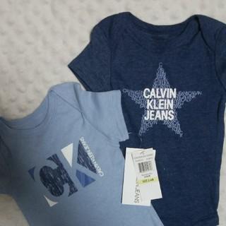 シーケーカルバンクライン(ck Calvin Klein)の最終値下げ カルバン・クライン2枚セット赤ちゃん服 ベビー服 ロンパース (ロンパース)