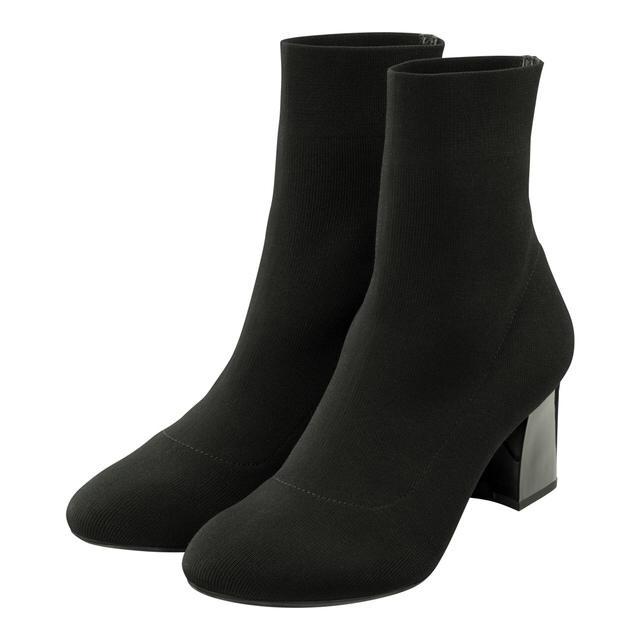 GU(ジーユー)のGU ニットストレッチブーツ 黒 Sサイズ 新品 最終出品 レディースの靴/シューズ(ブーツ)の商品写真