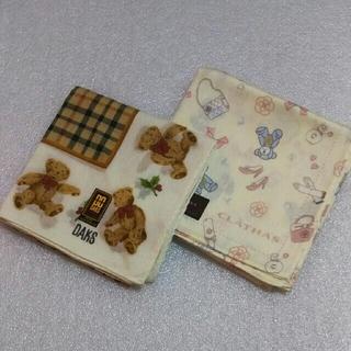 CLATHAS - DAKS&クレイサス☆ハンカチ2枚セット