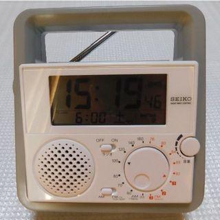 セイコー(SEIKO)のSEIKO:電波目ざまし時計ラジオ③(防災関連グッズ)