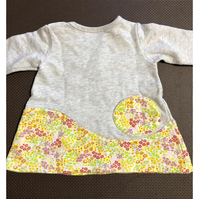 WILL MERY(ウィルメリー)のトレーナー チュニック 花柄 キッズ/ベビー/マタニティのベビー服(~85cm)(トレーナー)の商品写真