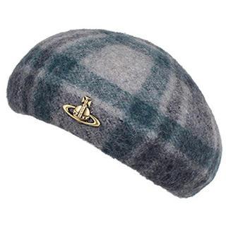 Vivienne Westwood - Vivienne Westwood ベレー帽 チェック 青 緑 グレー