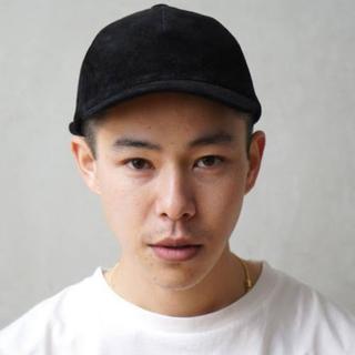 """エンダースキーマ(Hender Scheme)のKAIKO PIG SUEDE CAP """"BLACK""""(キャップ)"""