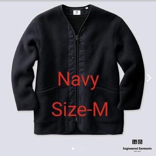 エンジニアードガーメンツ(Engineered Garments)のエンジニアガーメンツ コラボ フリースノーカラーコート ネイビー Size-M(ノーカラージャケット)