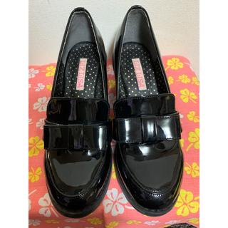 リズリサ(LIZ LISA)のリズリサ エナメル ヒールローファー (ローファー/革靴)