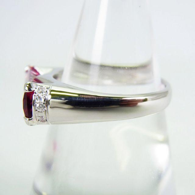 Pt900 ピンクトルマリン ダイヤモンド リング 13.5号[g136-5] レディースのアクセサリー(リング(指輪))の商品写真