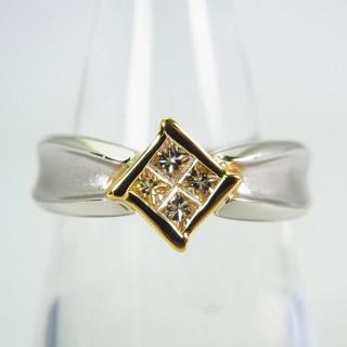 Pt900/K18 ダイヤモンド リング 12号[g136-6](リング(指輪))