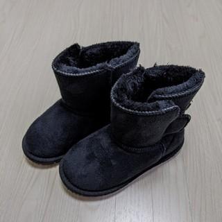 フタフタ(futafuta)のfutafuta ふわふわ ムートンブーツ 黒 18㎝(ブーツ)