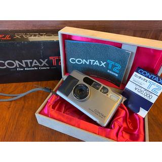 キョウセラ(京セラ)のコンタックスT2 CONTAX T2 元箱、化粧箱、ストラップ、取説セット(フィルムカメラ)