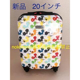 ディズニー(Disney)の新品 キャリーバッグ ミッキーマウス 20インチ 歴代ミッキー大集合!レア(スーツケース/キャリーバッグ)