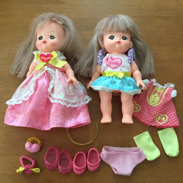 PILOT(パイロット)のメルちゃん 二体 服 靴 まとめ売り キッズ/ベビー/マタニティのおもちゃ(ぬいぐるみ/人形)の商品写真