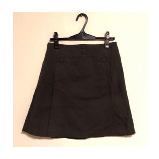 アクアガール(aquagirl)のOppure カーキ マリン ボタンデザイン 台形スカート(ひざ丈スカート)
