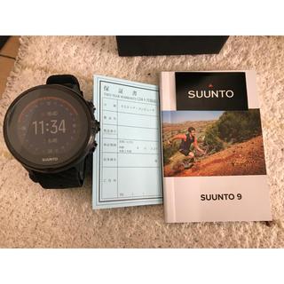 スント(SUUNTO)のSUNNTO9 オールブラックBARO無し(登山用品)