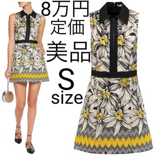 アリスアンドオリビア(Alice+Olivia)の美品 alice+olivia フローラル×ジオメトリック ジャカード ドレス(ミニワンピース)