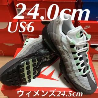 ナイキ(NIKE)のNIKE AIRMAX95 mint ナイキ エアマックス95 ミント(スニーカー)