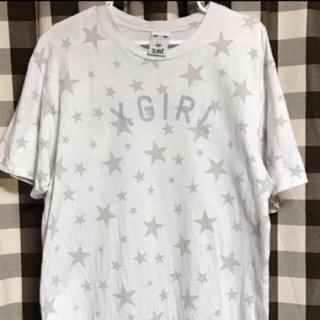 エックスガール(X-girl)のリフレクターロゴ 🍎 星柄Tシャツ(Tシャツ(半袖/袖なし))