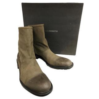 アルフレッドバニスター(alfredoBANNISTER)の美品 alfredo BANNISTER スパイラルジップ レザーブーツ 44 (ブーツ)