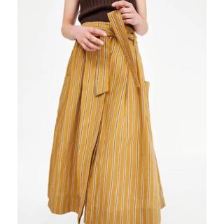 ザラ(ZARA)のZARA リボンディティール付きボリュームスカート(ロングスカート)