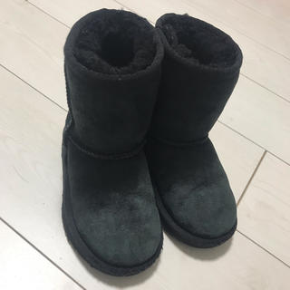 UGGムートンブーツ ブラック 黒 15cm アグ