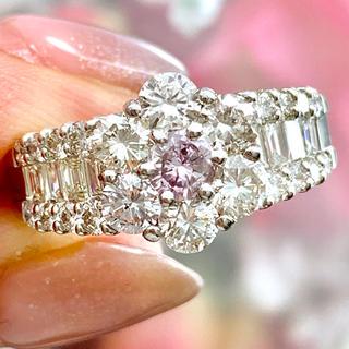 ★ピンクダイヤ★ 0.2ct フラワー ファンシーライト✨ ダイヤモンド リング(リング(指輪))