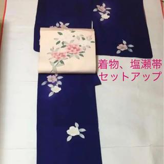 着物 小紋美品 セミフォーマル 名古屋帯 塩瀬 新品 セット(着物)