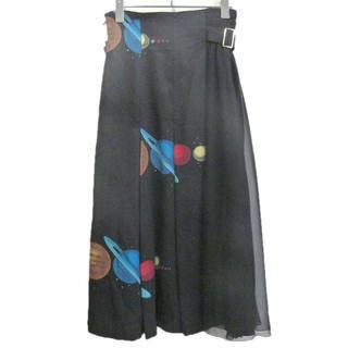 アンダーカバー(UNDERCOVER)のアンダーカバー 切替 プリーツスカート(ロングスカート)
