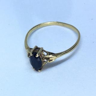 天然サファイア 宝石18Kリング 天然石 パワーストーン  宝石 18k指輪(リング(指輪))
