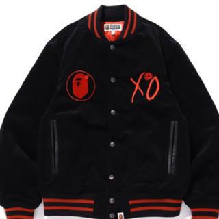 アベイシングエイプ(A BATHING APE)のape bape x xo varsity jacket M 新品(スタジャン)