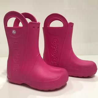 crocs - ❤︎クロックス 長靴 キッズ ピンク19.5cm❤︎