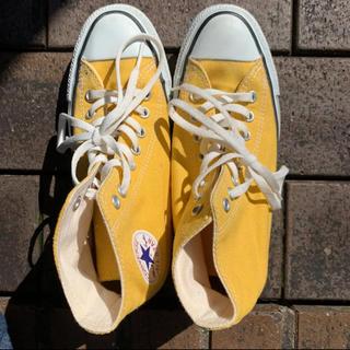 コンバース(CONVERSE)のconverse ハイカット 黄色(スニーカー)