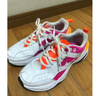 NIKE W M2K TEKNO ホワイト オレンジ ピンク 23cm(スニーカー)