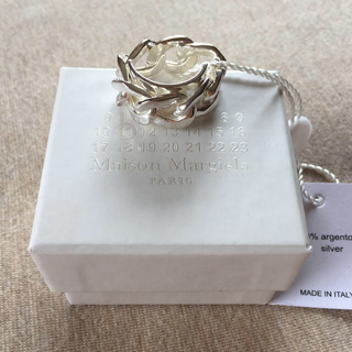 マルタンマルジェラ(Maison Martin Margiela)の19SS新品M メゾンマルジェラ シルバー チェーンリング 指輪 メンズ(リング(指輪))