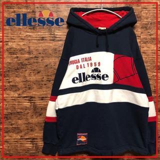 エレッセ(ellesse)のエレッセ ellesse 刺繍 ロゴ トリコロールカラー パーカー M(パーカー)