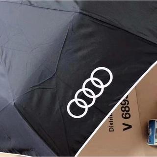 アウディ(AUDI)のアウディ Audi quattro GmbH 折りたたみ傘 ワンタッチ傘 記念(車外アクセサリ)