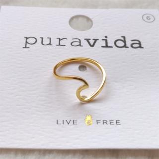 プラヴィダ(Pura Vida)のPura vida リング 指輪 ウェーブ US 6 ゴールド ロンハーマン取扱(リング(指輪))